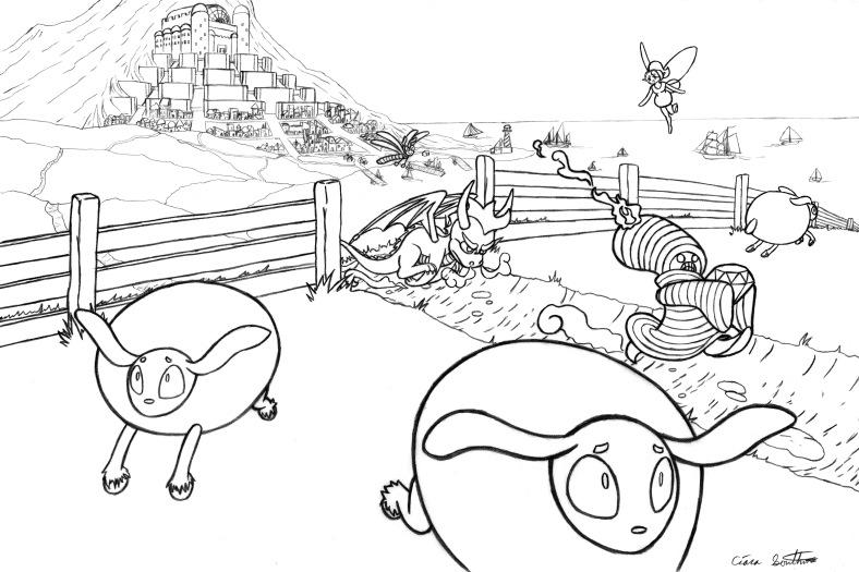 Enviroment Exterior-Spyro the Dragon