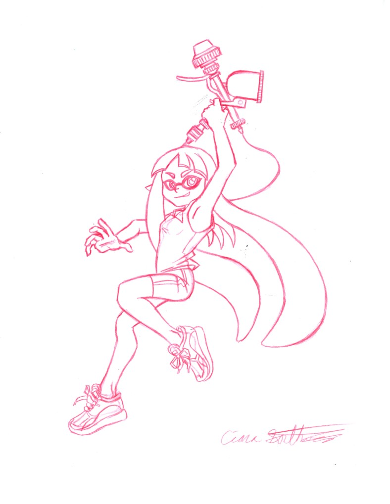 Splatoon girl red final