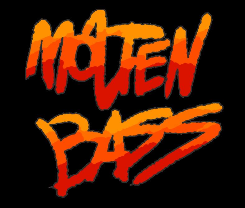 Molten Bass Lettering